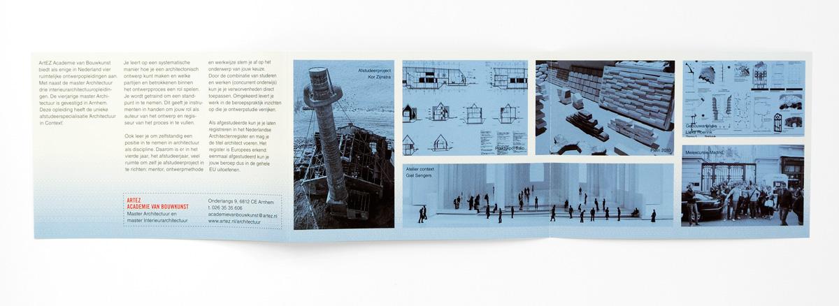 ArtEZ Bouwkunst, folder curriculum, binnenkant