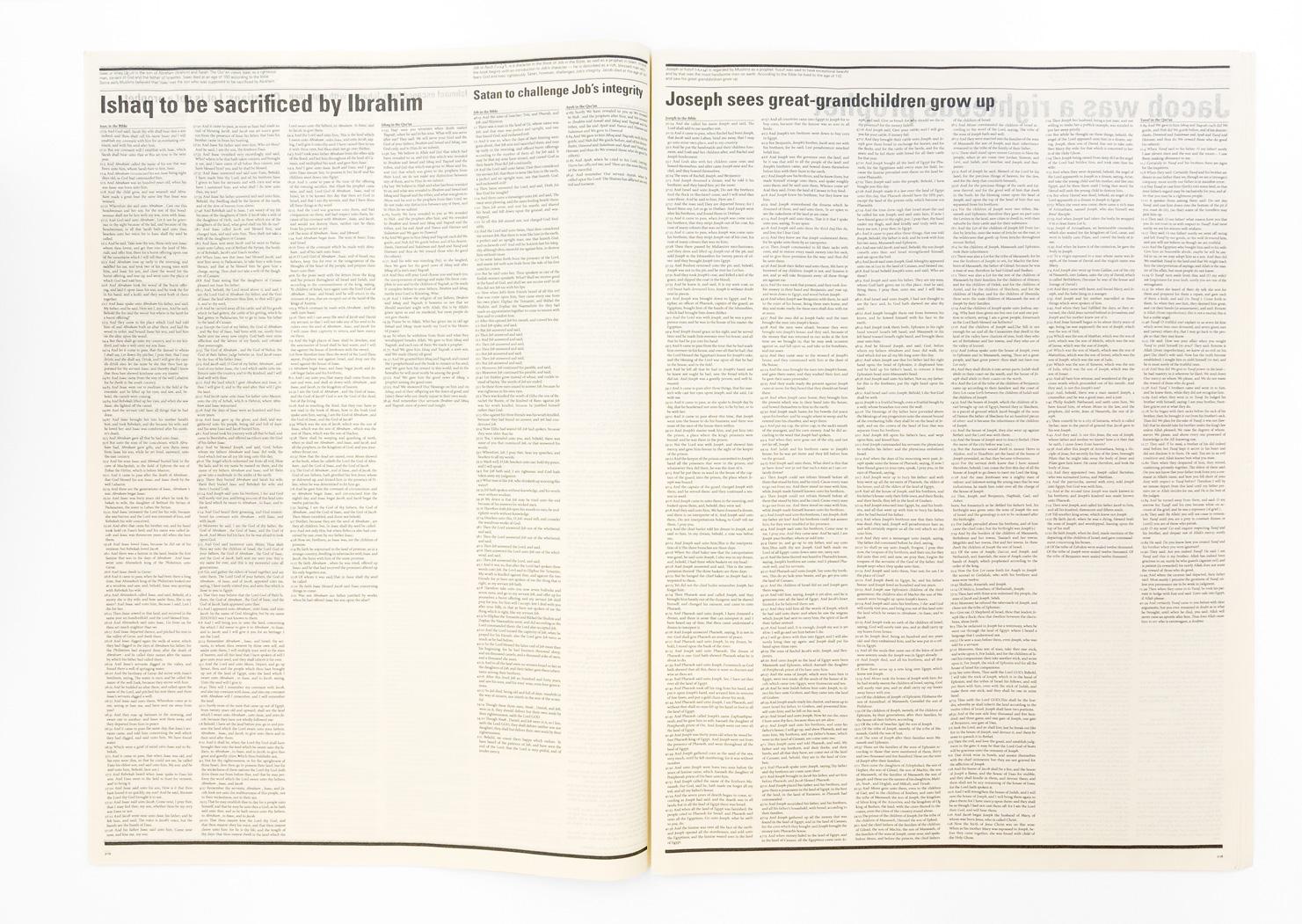 Vertaling van boek naar krant.