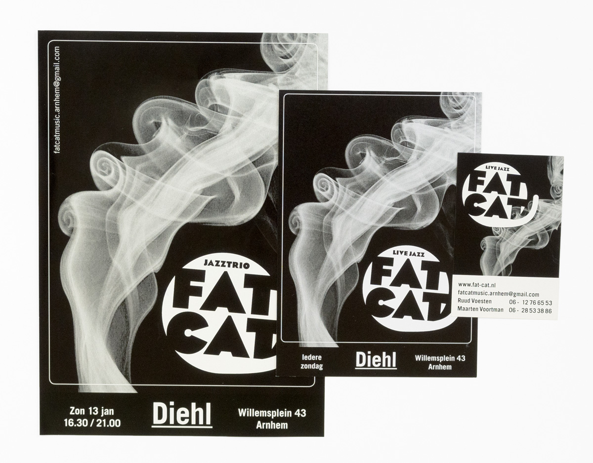 Fat Cat flyer, visitekaartje