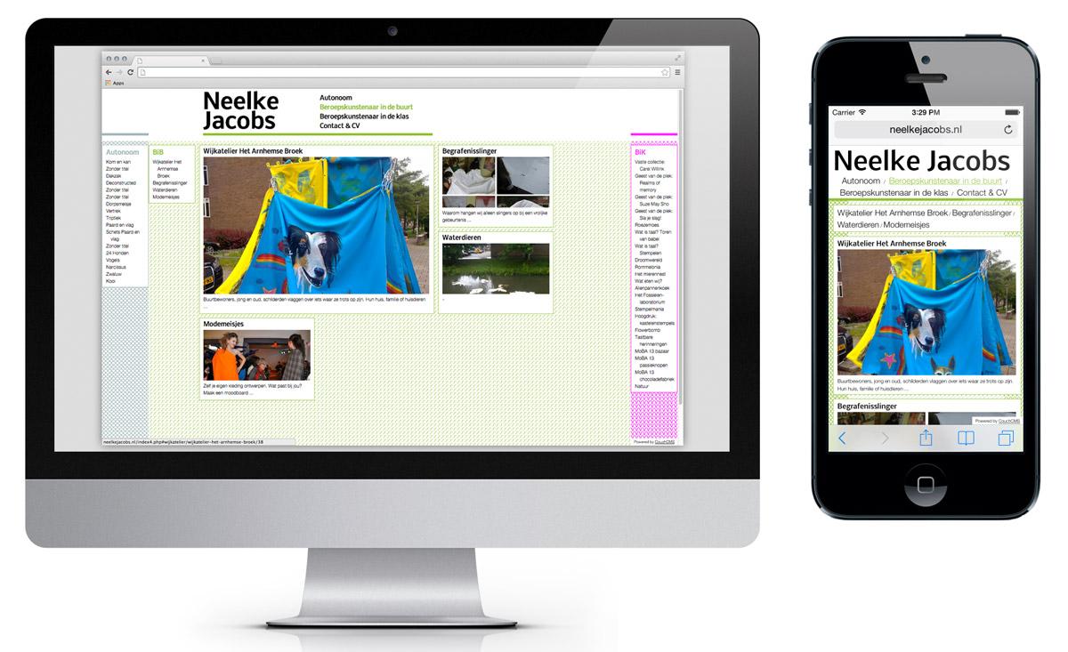 Website, portfolio B