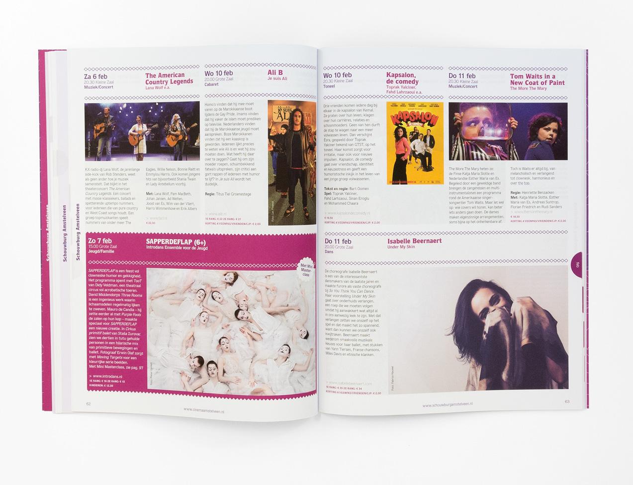 Brochure Schouwburg Amstelveen, programma