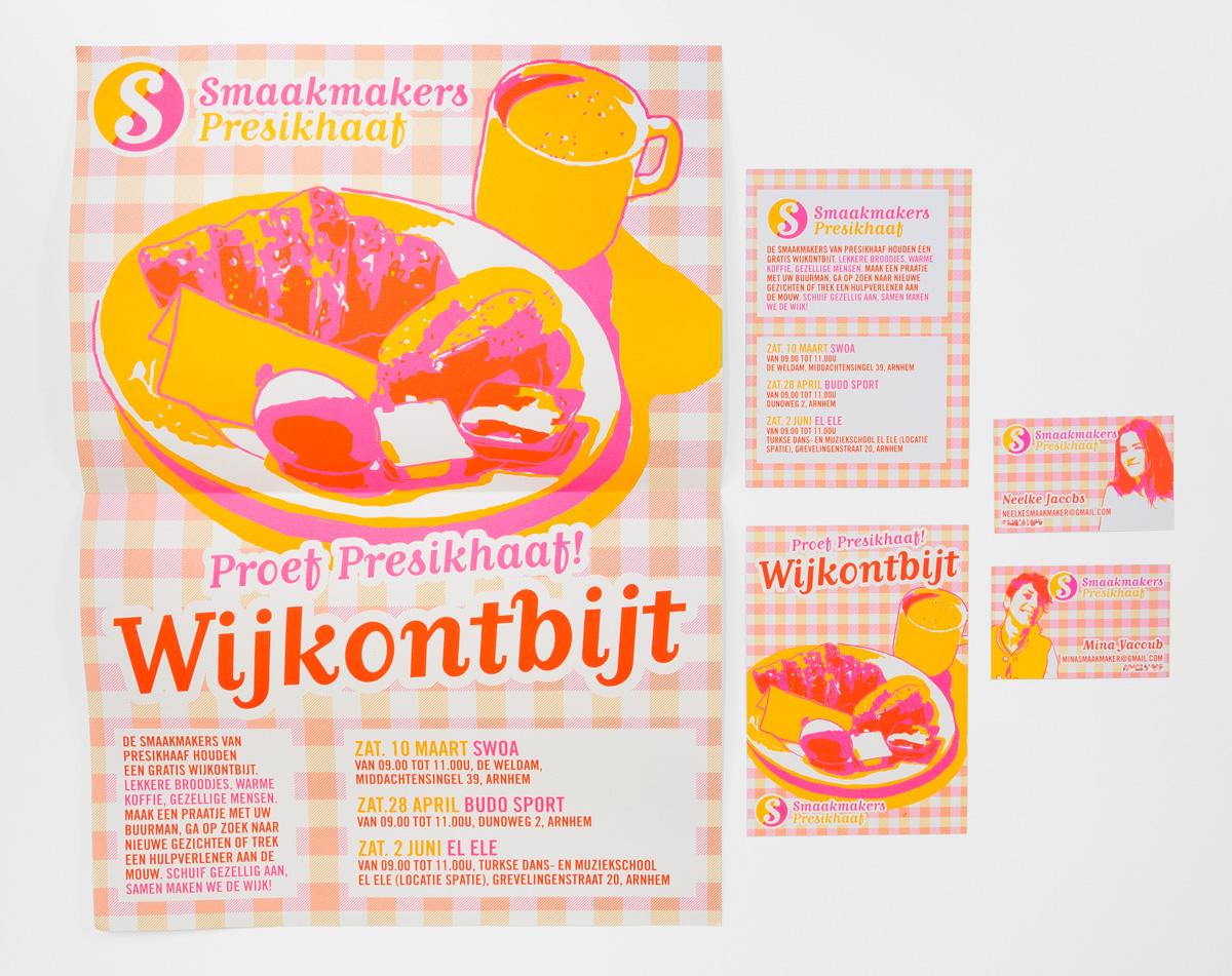 Smaakmakers Presikhaaf flyer, visitekaartjes, flyer, visitekaartjes