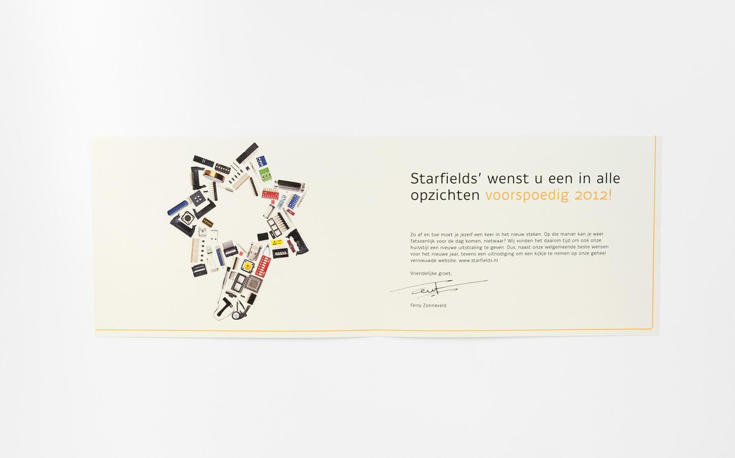 Starfields', nieuwjaarskaart